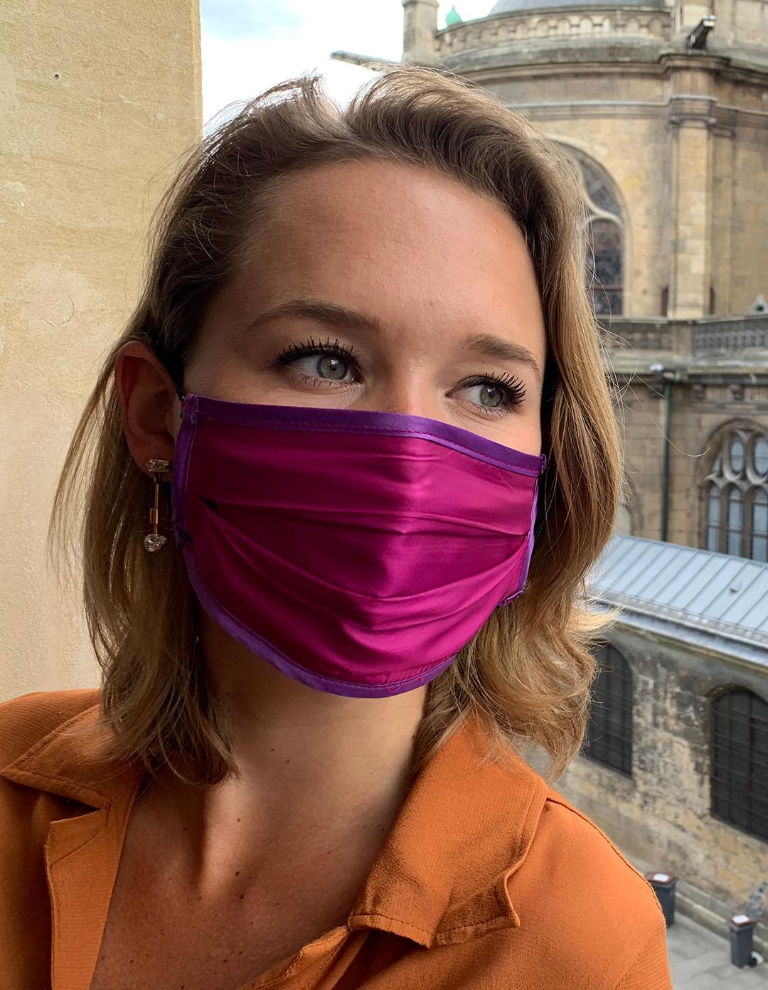 Masque de Protection Verso Fuchsia Femme