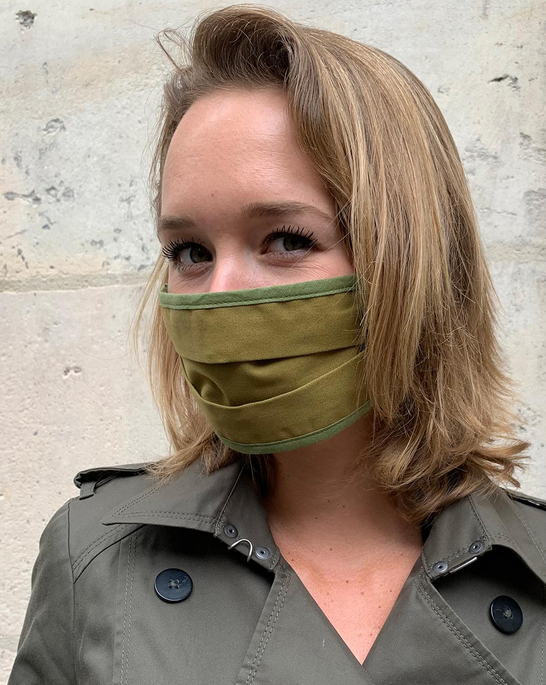 Masque de Protection Recto Kaki Femme