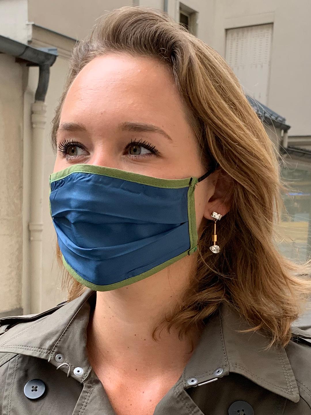 Masque de Protection Verso Bleu-Roi Femme