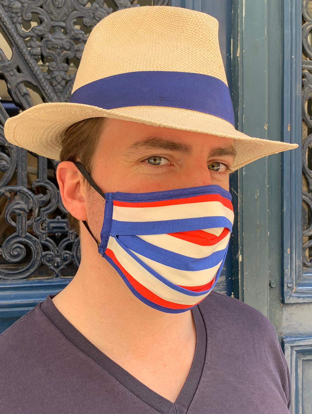 Masque de Protection Recto Tricolore Homme