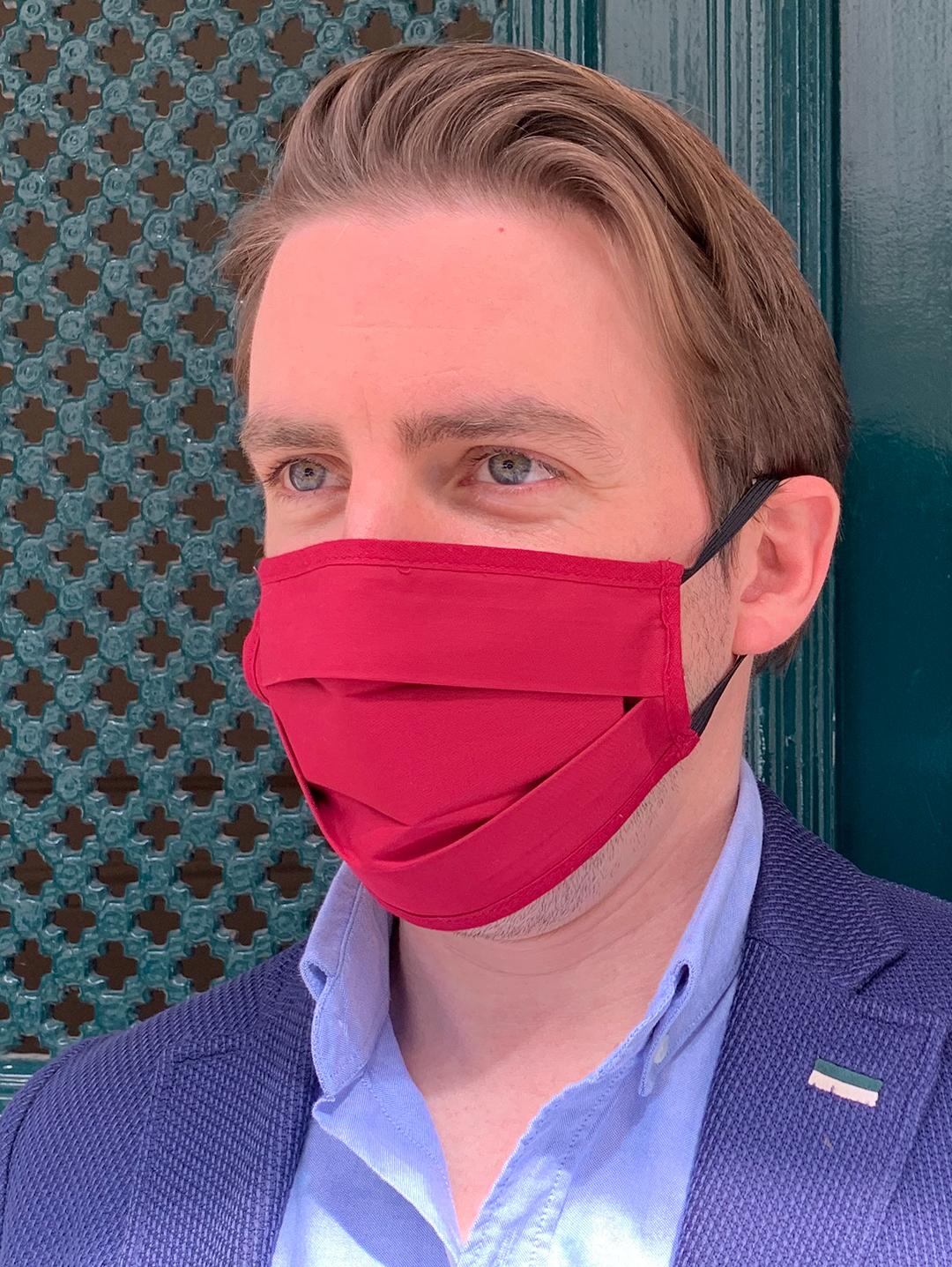 Masque de Protection Recto Carmin / Verso Prune (Gansé Carmin)