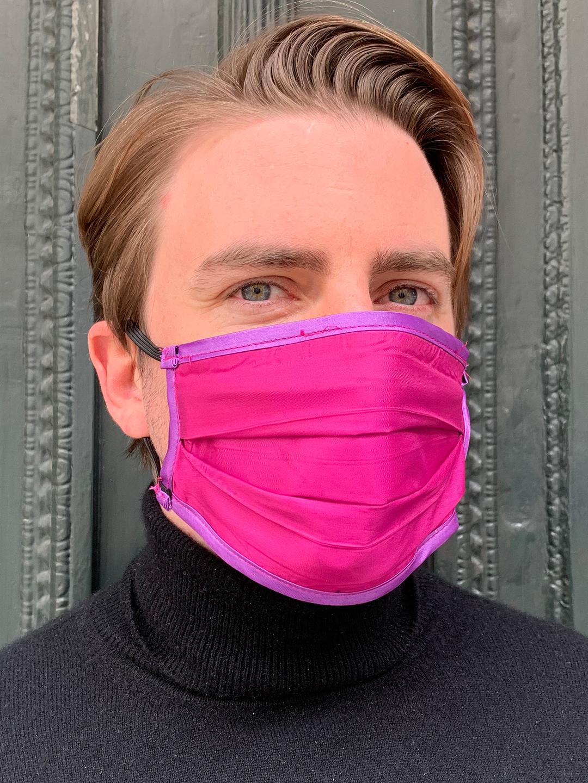 Masque de Protection Verso Fuchsia Homme