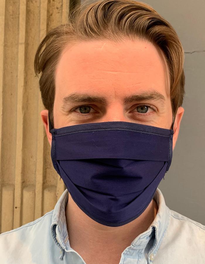 Masque de Protection Recto Bleu Nuit
